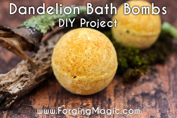 Dandelion Natural Bath Bombs DIY