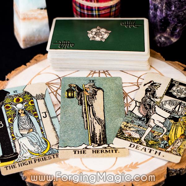 Tarot Cards High Priestess Hermit Death