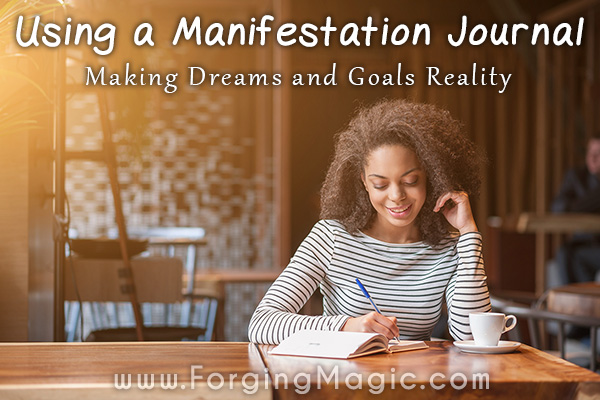 Manifestation Journal - Woman Writing in her journal to find her higher self and make goals reality