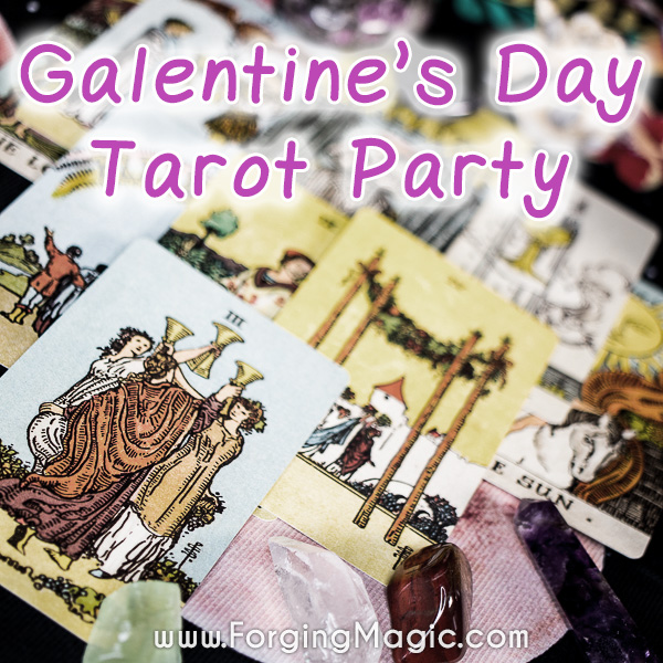 Galentine's Day Tarot Party with Crystals