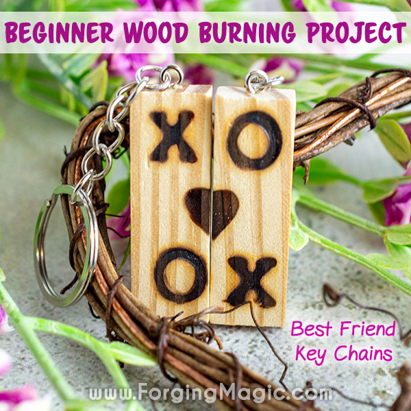 Wood Burning Key Chain DIY Project